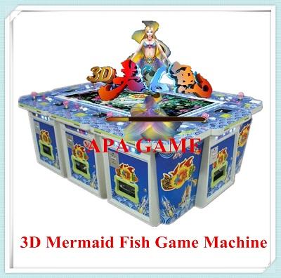 3d mermaid shoot fish game machine fishing game machine for Fish game machine