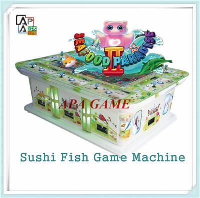Sushi fishing hunting game machine seafood paradise ii for Fish game machine