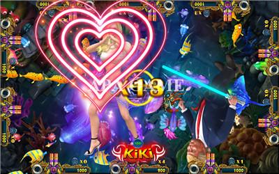 Trump Fishing Kirin Kingkong Fish Arcade Game Machine Hot